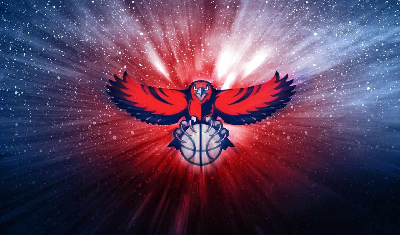 баскетбол, nba, ecran, hawks, fonds, atlanta, корзина, мяч, pour, фото, gratuits,