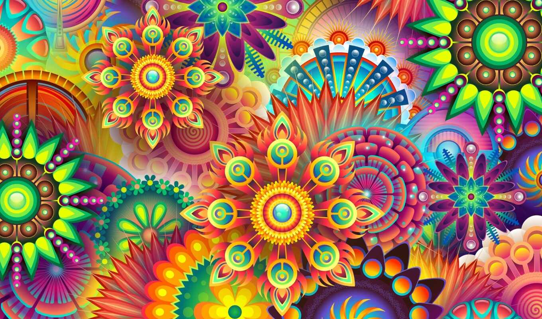 puzzle, психоделика, cvety, вектор, piece, jigsaw, очень, amazon, museimaginedragon, магазин, different