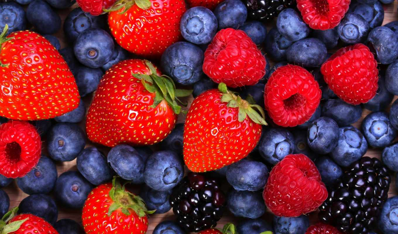 ягоды, малина, клубника, черника, blackberry,