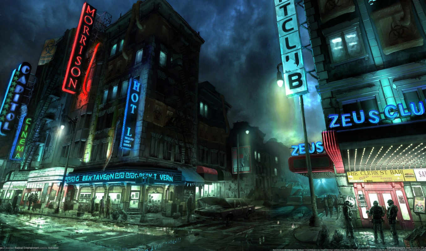 нью, york, улица, ночь, военные, люди, апокалипсис,