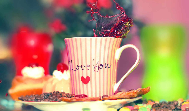 love, cup, you, дек, coffee,