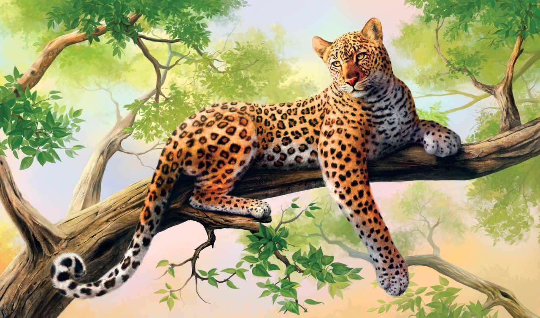 art, леопард, free, resolutions, desktop, изображение,