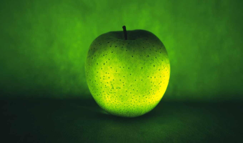 яблоко, зелёный, крапинка