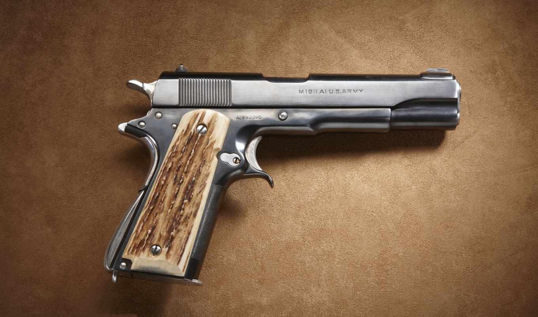 пистолет, colt, американский,