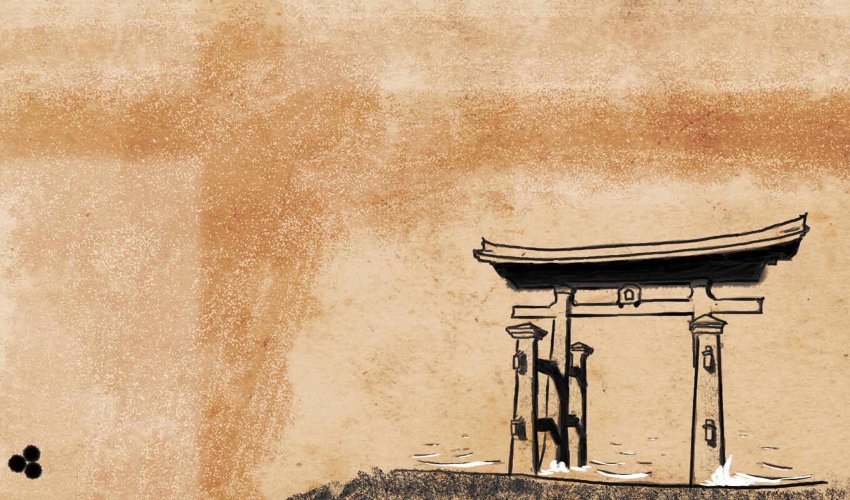 тории, японский, синтоизм, япония, стиль,