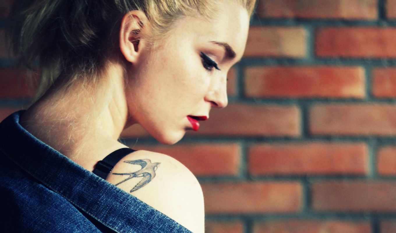 девушка, татуировка, blonde, стена, white, kenzi, lost,