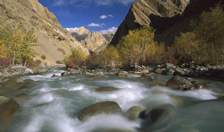 природа, hanupata, река, online, ladakh, ущелье, бурная,
