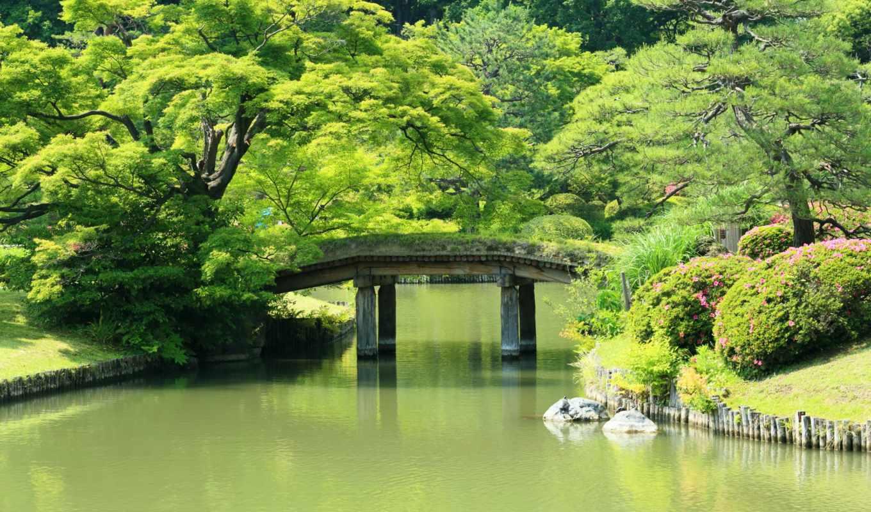 картинка, природа, сады, пруд, мосты, япония, neighborhood,