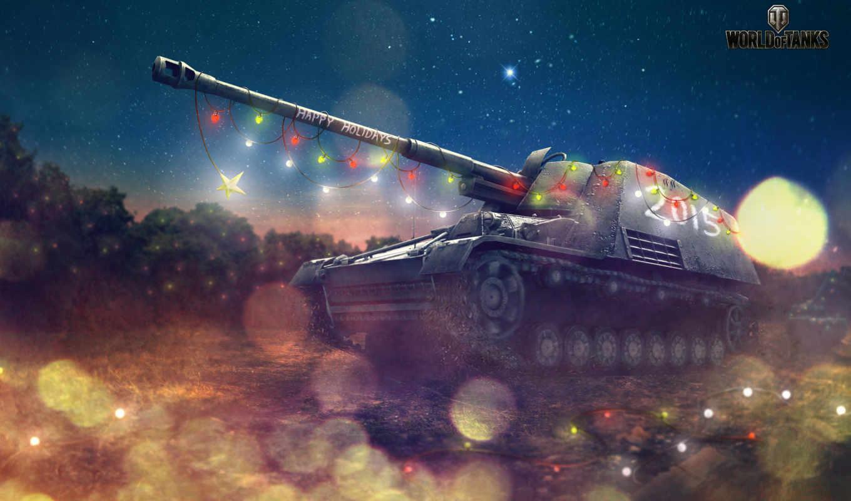 world, tanks, дек, xmas, wot, christmas,