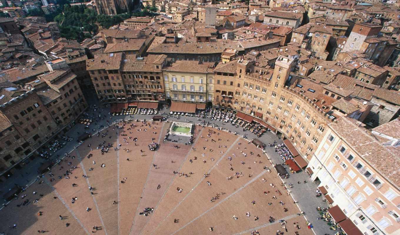del, piazza, campo, площадь, italy, города, сиена,