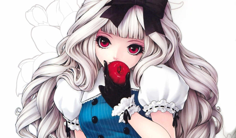 блондинка, девушка, лоли, кукла, куколка, anime, ich,