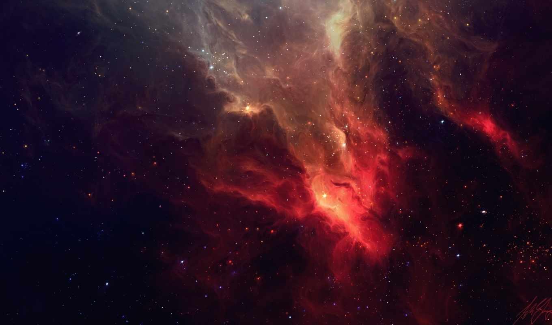 звезды, космос, туманность, арт,