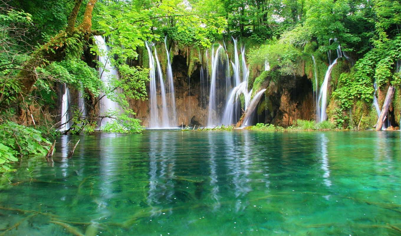водопад, свой, правой, красивые, кнопкой, компьютер, мыши, место, выбрав, то, ссылку,