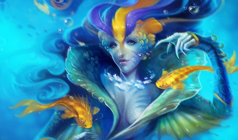 русалки, русалка, art, helen, rusovich, mermaids, fantasy, pinterest,