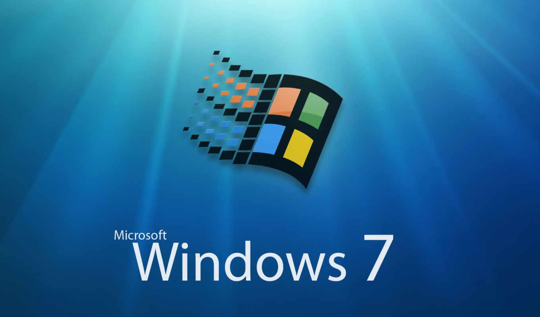 windows, seven, logo
