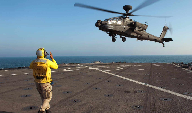 авианосец, ah, army, apache, helicopters,