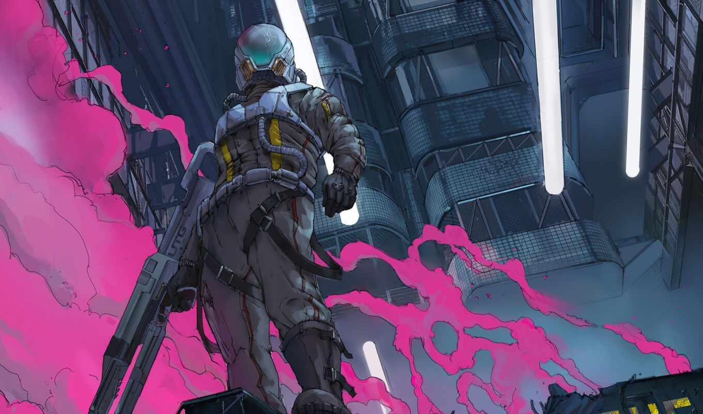 art, cyberpunk, klau, concept, overdrive, human, оружие, арта