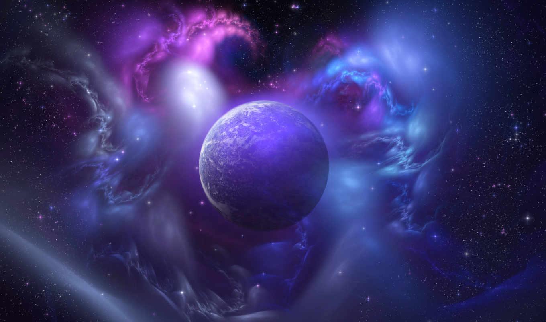 planet, galaxy, blue, universe, purple, background, tumblr, космос,