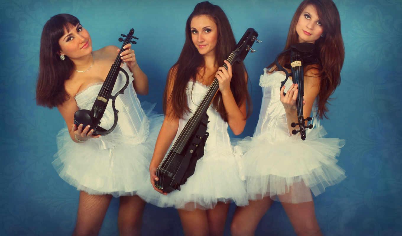 трио, скрипка, dolls, группа, devushki,