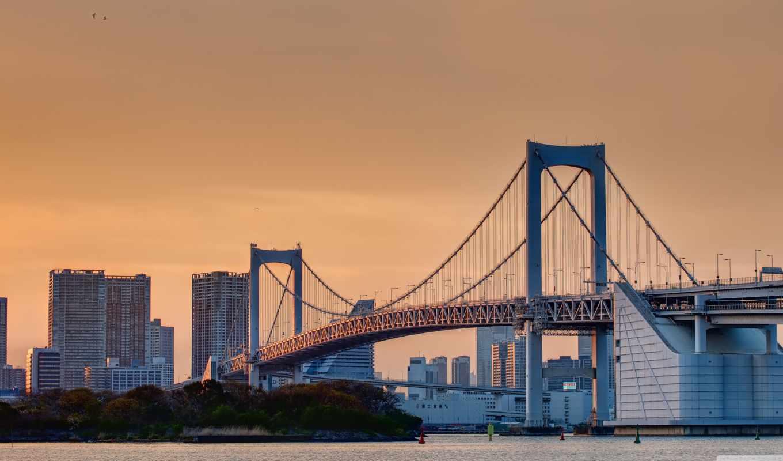мост, радуга, odaiba,