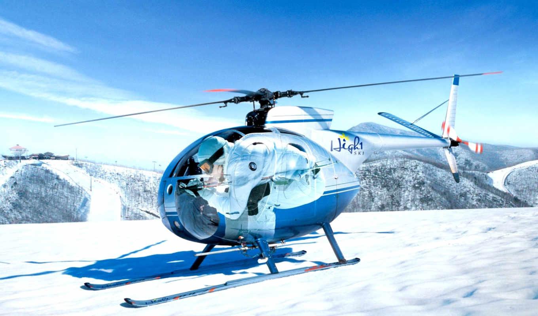 вертолет, авиация, anime, горы, самолеты, вертолеты, снег, вертолета,