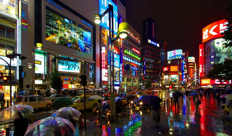 отражение, свет, мегаполис, мокрый, асфальт, gorod, video,