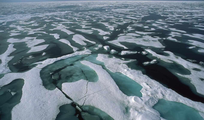 ocean, arctic, north, земли, море, water, северном, white, минимум,
