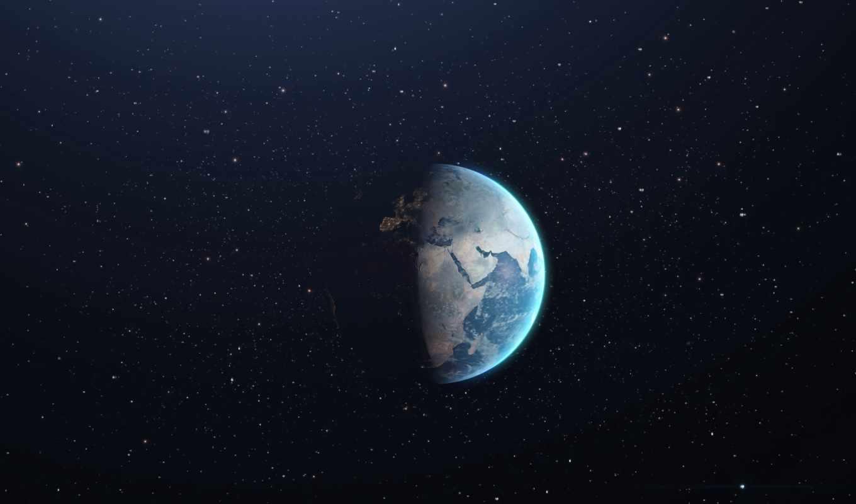 планета, земля, звезды