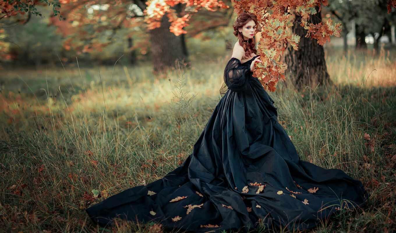 девушка, лес, платье, garden, фотограф, осень, ольга, цитата, boikii, комментарий