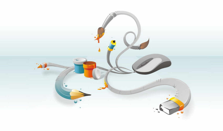 мышка, белый, дизайн, abstract, карандаш, photoshop, краски, кисть, desktop, ластик, инструменты, this, разное, tools, смотрите,