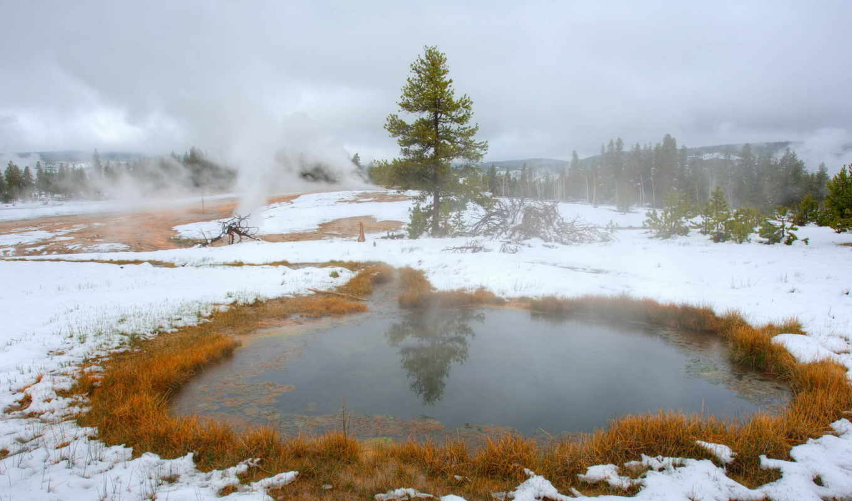 пейзаж, снег, осень, природа, картинка, планшета, смартфона,