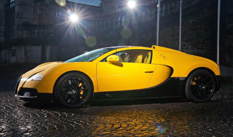 bugatti, veyron, спорт, yellow, суперкар, grand,