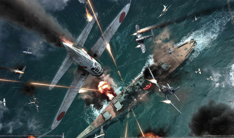 самолёт, корабль, war, авианосец, вой,