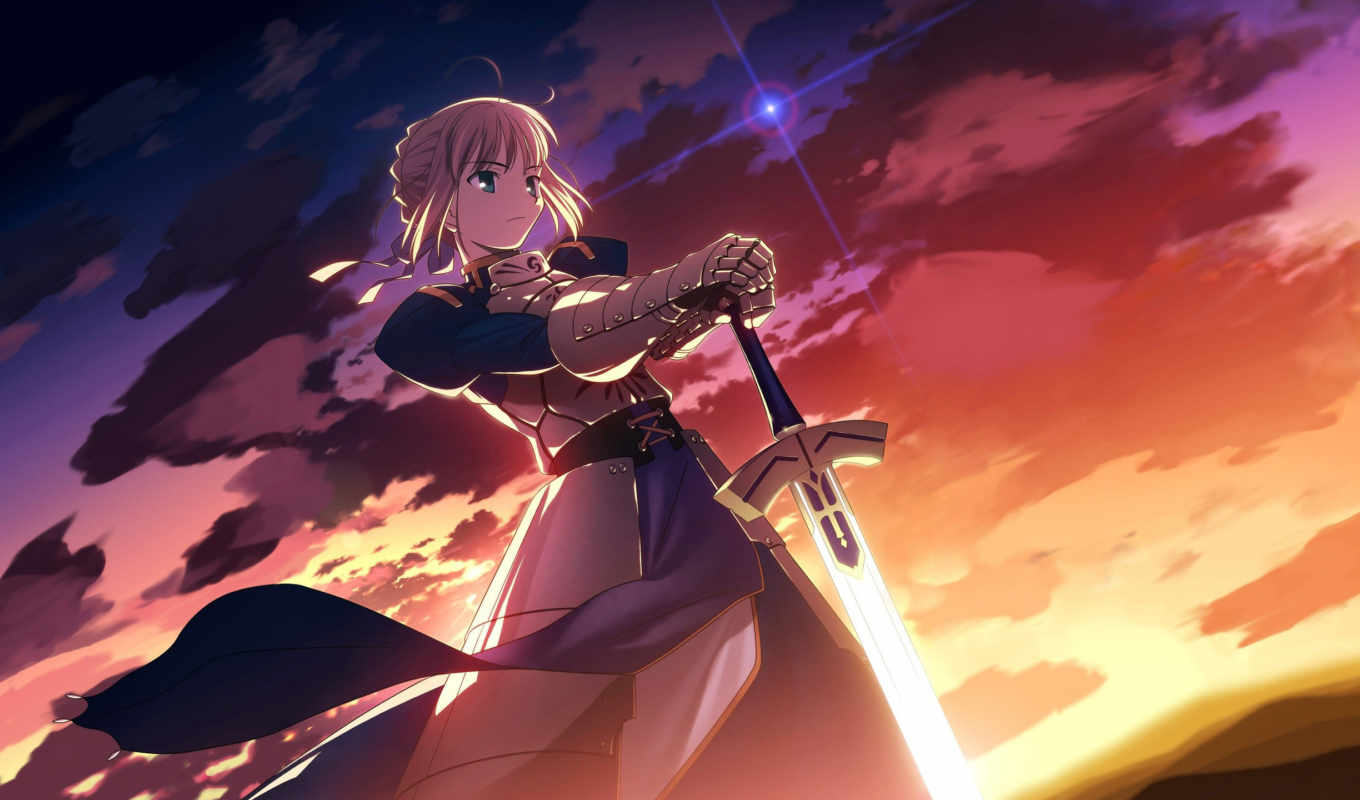 fate, ночь, stay, saber, this, anime, you,