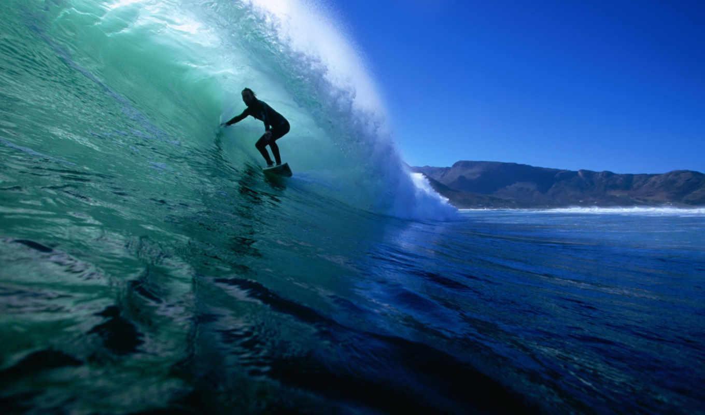 surfing, серфингист, океан, волна, sports, картинку, кликните, картинка,