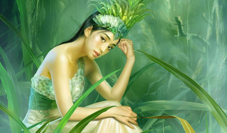 yuehui, tang, девушка, платье, фотообои, мне, china, женский, красивые, art,