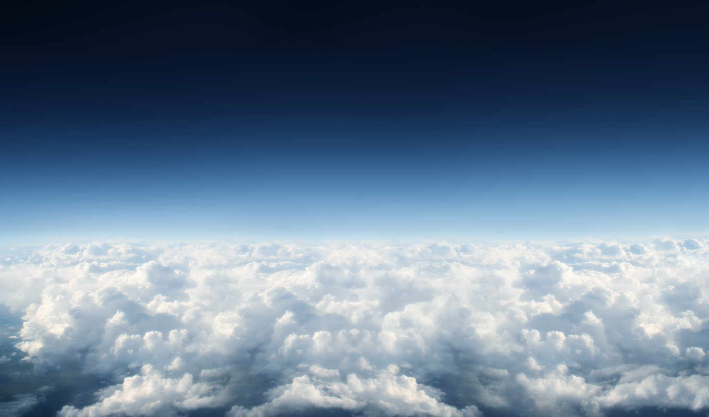 небо, со, разных, облаками, oblaka,