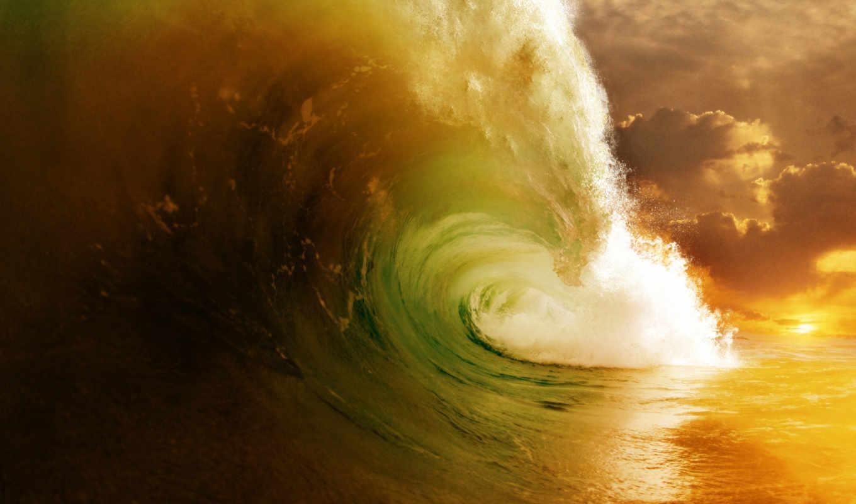 nature, море, волны, брызги, full, океан, wave, вода, фотографии, summer, пейзажи, ipad, retina, power, desktop,