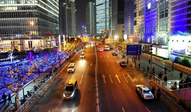 город, china, огни, июня, разрешений, любом, можно, широкоформатные, shanghai, улица, космос,
