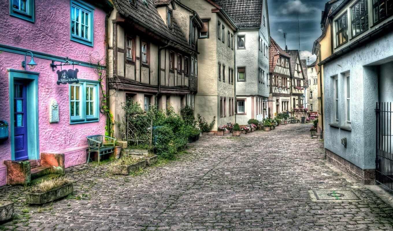 улица, дома, город, дорога, города, камней,