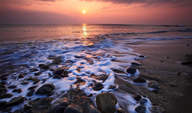 ,берег, море, закат, скалы, sun, скалистый,