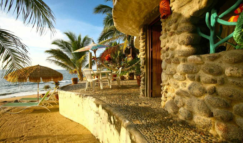 пляж, house, бриз, морской, melanesia, palm, женщина, sunbathing, фотках, фотографий, альбоме,