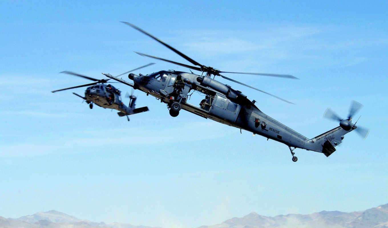uh, hawk, sikorsky, black, pave, hh, военный, вертолет,