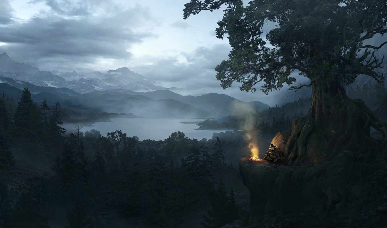 соломоновы, кане, pemandangan, hutan, gambar, kolam, james, purefoy, guning, hitam, nightmaremoon