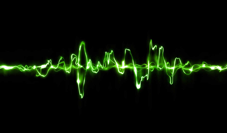 пульсация, черный, волна, зелёная,