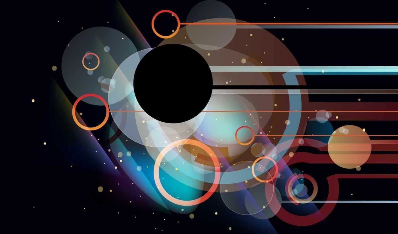 графика, абстрактная, фона, столе, рабочем, круги, полосы, pack, best,