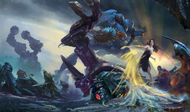 battle, fantasy, kunst,