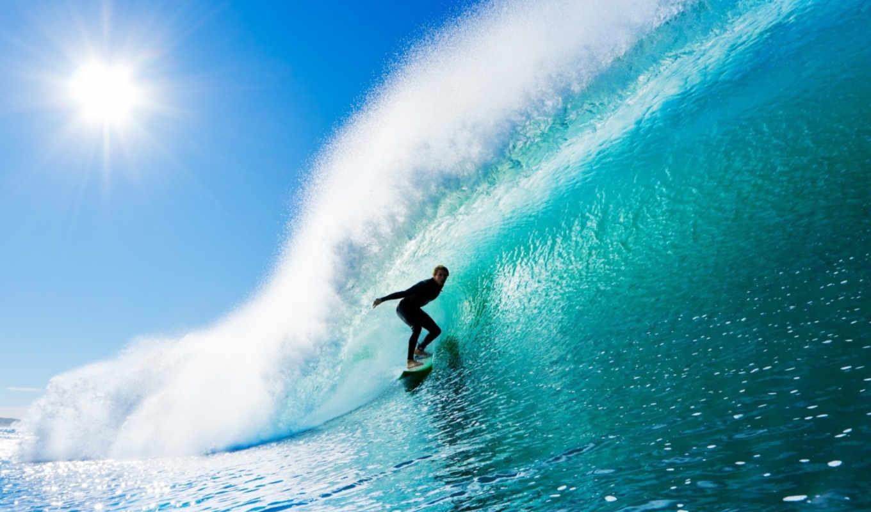 сёрфинг, доска, спорт, парень, мужчина, море, вода,