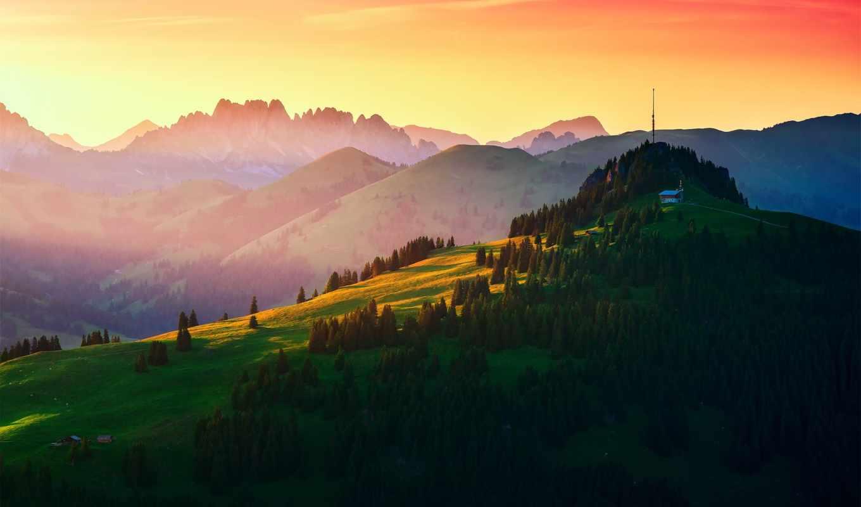 hills, швейцария, радио, холмы, швейцария, горы, вышка, mountains, пейзажи -, priroda,