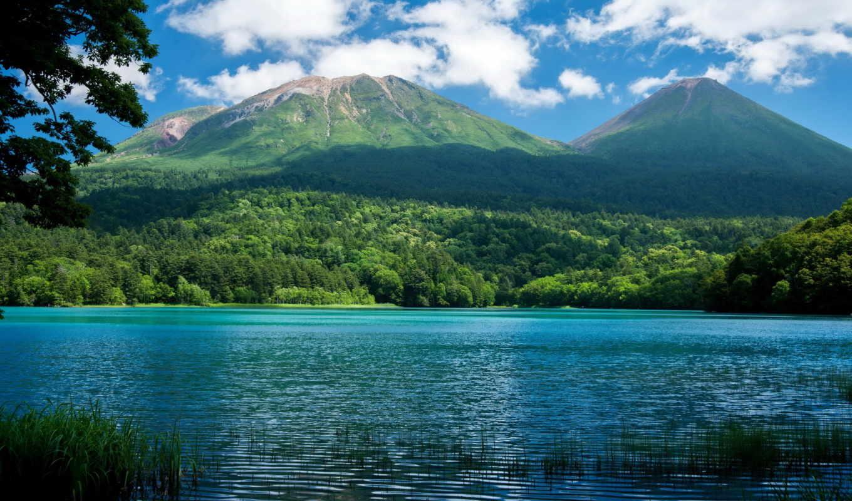 горы, природа, озеро, landscape, леса,
